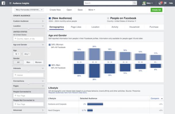 Informazioni sul pubblico di Facebook