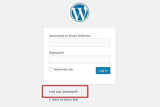 Ripristino della password persa in WordPress