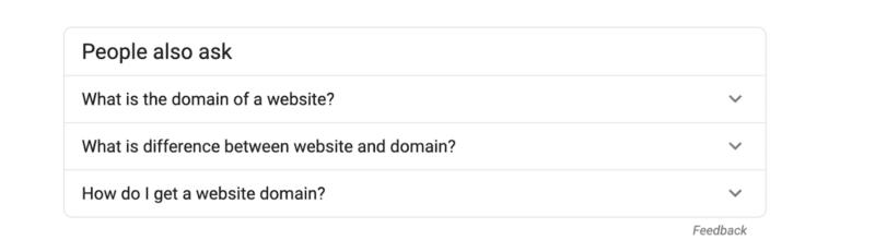 le persone di Google chiedono anche la ricerca di parole chiave
