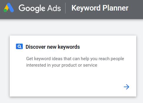 scoprire nuove parole chiave nel pianificatore di parole chiave di Google