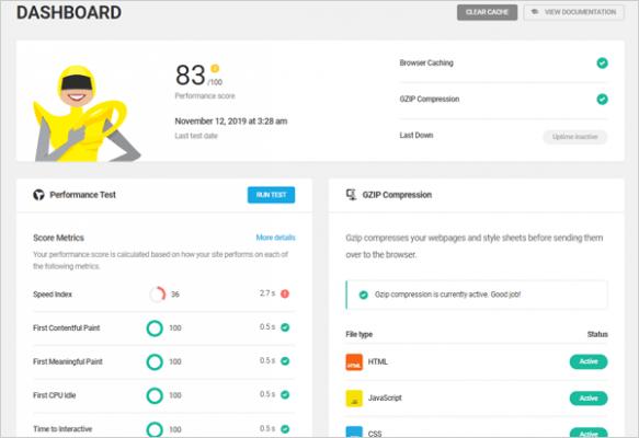 Plugin di ottimizzazione per WordPress Hummingbird.