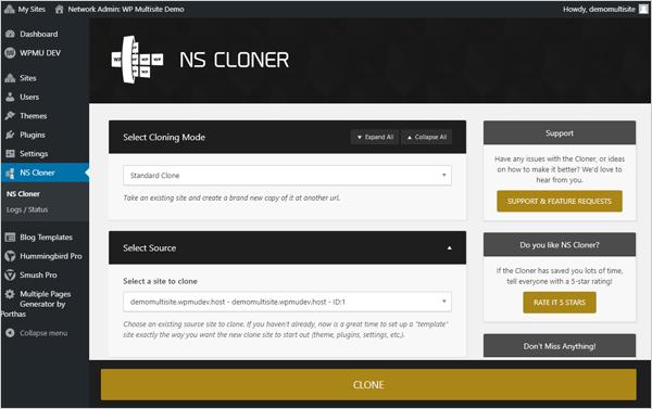 NS Cloner per WordPress Multisito