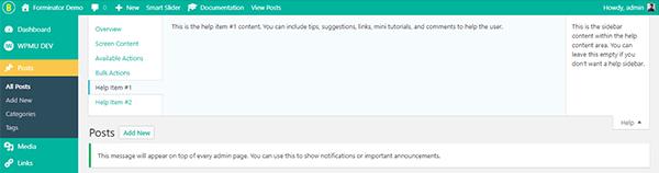 Dashboard WordPress personalizzato con Branda