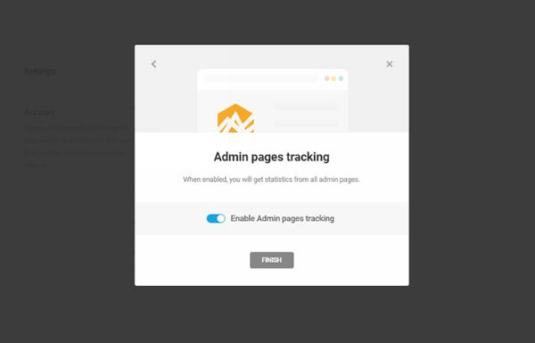 Plugin Beehivve di Google Analytics per WordPress.