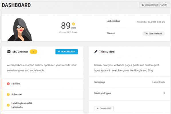 Plugin SEO per WordPress Smart Crawl.