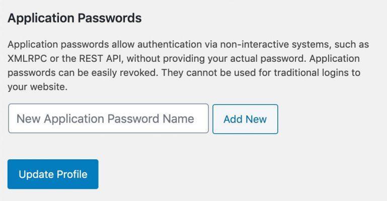 Password delle applicazioni