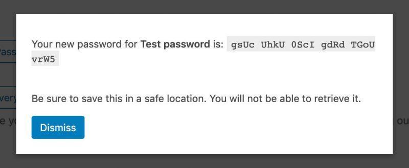 Una nuova password per l'applicazione