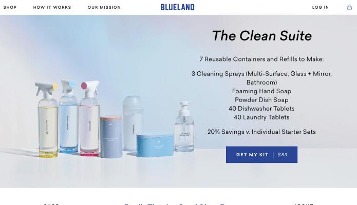 web design con colori freddi